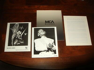 "Rare ELTON JOHN ""Live in Australia"" 1987 MCA RECORDS PRESS KIT + BONUS PHOTO"