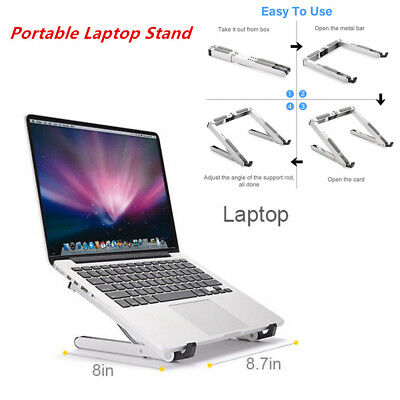 Foldable & Portable Laptop Stand Adjustable Aluminum Tablet Holder Below 15.6""