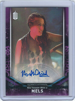 Nina Toussaint-White as Mels Autograph Card - 2018 Doctor Who Signature Series