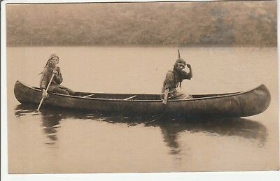 Indians in a Canoe    1920's