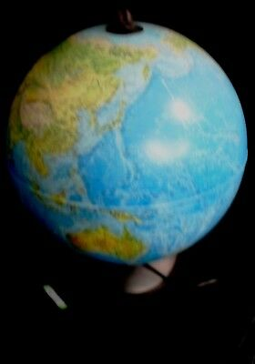 Light Up Globe. World Map Night Sky Constellation