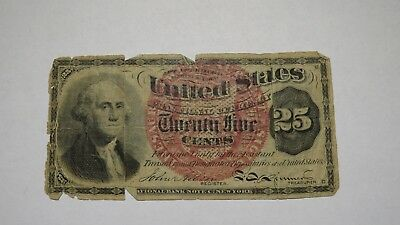 1863 $.25 Fractional Currency Note! Quarter Bill! Bank Stamp Act Civil War Cent