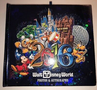 Walt Disney World 2016 Photos & Autographs Book Album Signed By Characters