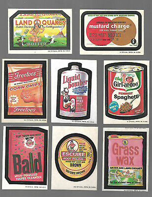 1973 Topps Wacky Packages Original 4th Series 4 Complete