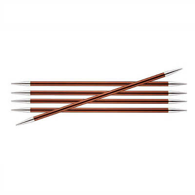 Knitter's Pride Zing Size US 9 (5.5mm) Double Point Needles - 6 inch, 8 inch