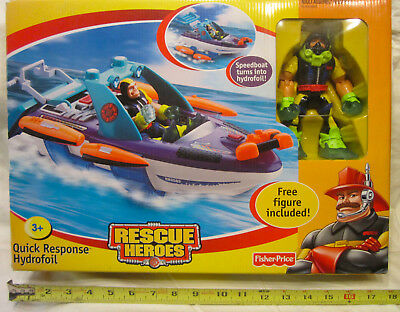 Rescue Heroes - Quick Response Speedboat Turns Into Hydrofoil with Gil Gripper