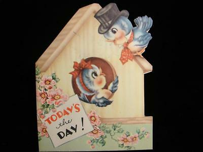 "Vintage ""bluebirds Know Today's The Day!!"" Birthday Greeting Card"