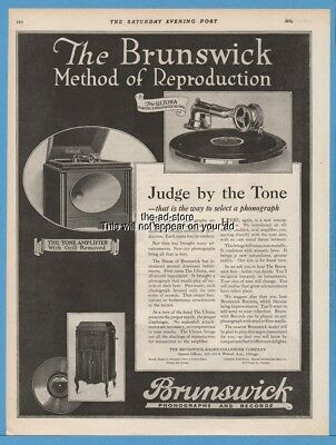 1920 Brunswick Balke Collender Chicago Tone Amplifier Ultona Phonograph Ad