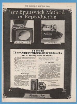 1920 Brunswick Balke Collender Chicago IL Tone Amplifier Ultona Phonograph Ad