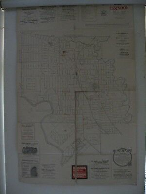 Essendon Map . Motor Cycle, Plume & OTHER Advertising