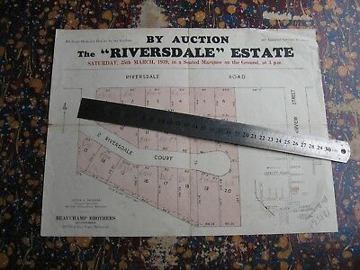 Beauchamp Bros. Real Estate. Riversdale Court Hawthorn, Map & Sales Brochure