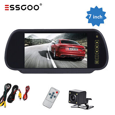 "Truck Wireless Car Reversing Rear Camera Kit +7"" TFT LCD Monitor 12V 24V UK"