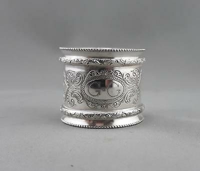 Vintage Stokes And Sons Heavy Engraved Napkin Ring Made In Australia.