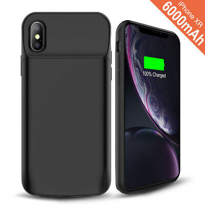 For iPhone X XR 6 7 8 PLUS Battery Charging 360 Protection Ultra Slim Case Cover