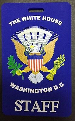 Colored Presidential Seal, Blue White House Staff Luggage Tag (Set Of Two Tags)