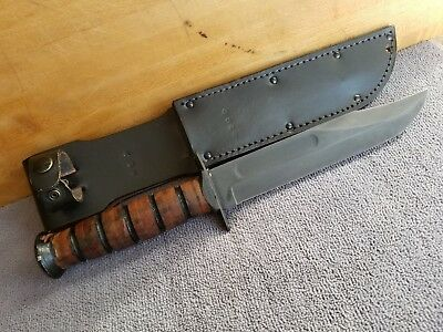 Vietnam? Era U.s./ontario Mk-2 Usmc Fighting/combat Knife (Parkerized) W/sheath