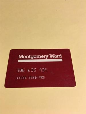 Vtg Montgomery Ward Credit Card Collectors Advertising