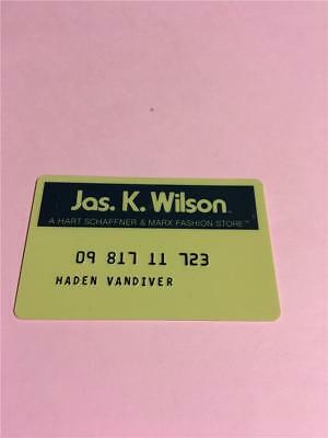 Vtg Jas. K. Wilson  Credit Card Collectors Advertising
