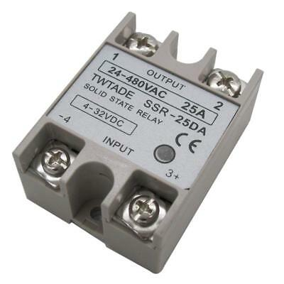1Pcs  SSR-25 DA 25A 4-32V DC/24-480V AC SSR Single Phase Solid State Relay