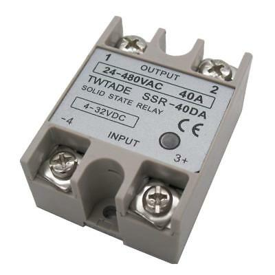 TWTADE SSR-40 DA 40A 4-32V DC/24-480V AC SSR Single Phase Solid State Relay