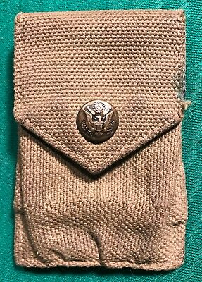 Original Pre Ww1 Army Rimless Eagle Snap M1910 Garrison Belt Cartridge Pouch