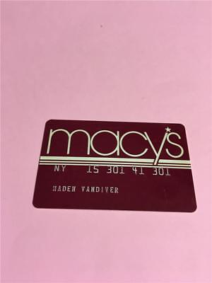 Vtg Macy's  Credit Card Collectors Advertising
