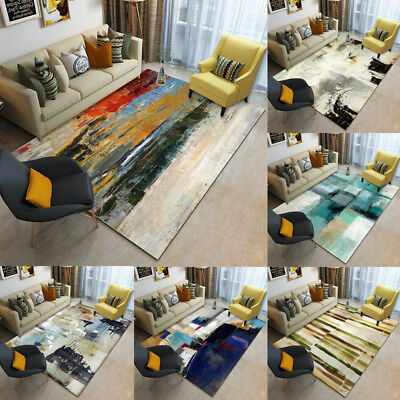 Modern Small Large Abstract Ink Thick Long Floor Carpet Runner Rugs Mats 129