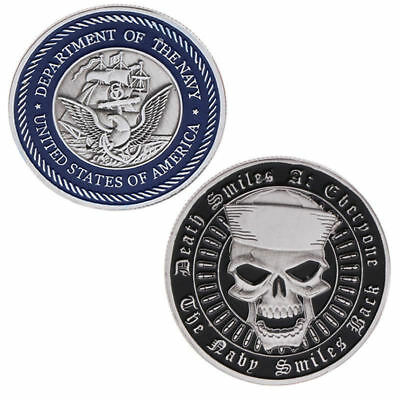 US MIlitary Navy Death Smiles at Everyone USNY Challenge Coin Collectible Gift