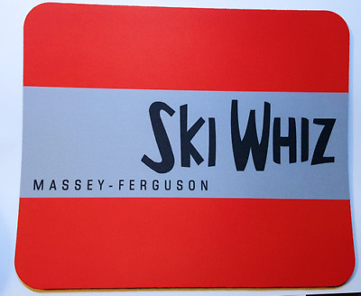 Reproduction Vintage Massey Ferguson Ski Whiz Snowmobiles Color Mouse Pad