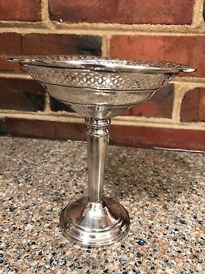 Antique Weighted Sterling Silver Compote Pedestal Candy Dish 70g