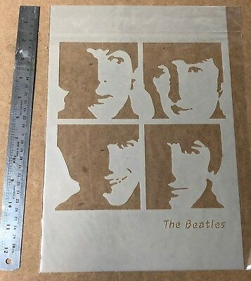 Vintage The Beatles Stencil Re-use again and again! Spray or Paint