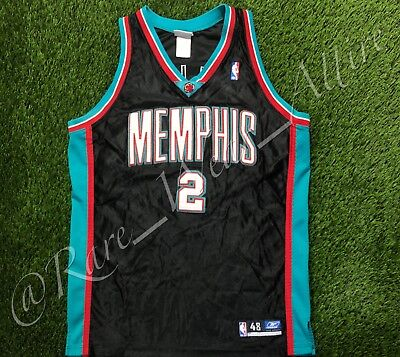 aa4fd7f35 Nba Jersey Memphis Grizzlies Jason Williams Reebok Authentic Sz 48 Vtg Rare  Away