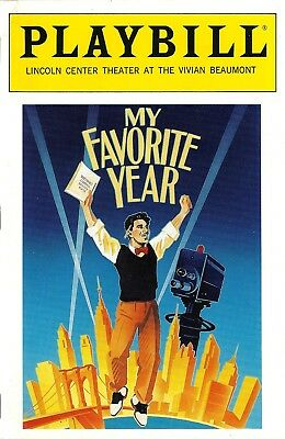 """Tim Curry """"MY FAVORITE YEAR"""" Andrea Martin / Lainie Kazan 1992 Preview Playbill"""