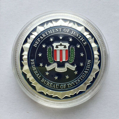US Military Federal Bureau of Investigation FBI EAGLE Challenge Coin Silver