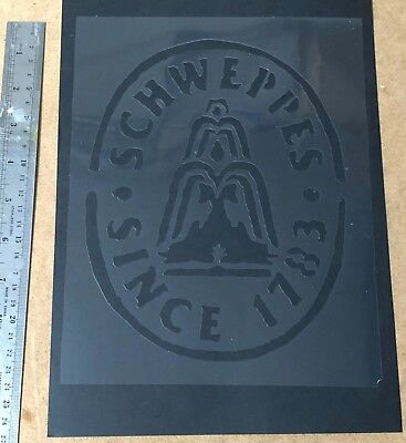 Vintage Schweppes Since 1783 Stencil Re-use again and again! Spray or Paint