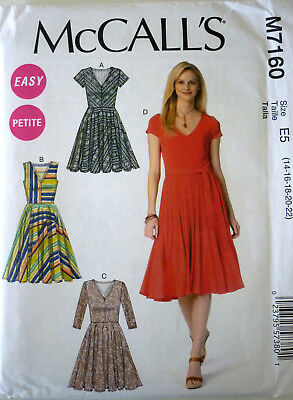 e6cb4d3a4c McCALL S M7160 SEWING PATTERN MISSES EASY DRESS FLARED SKIRT SZ 14- 22 NEW