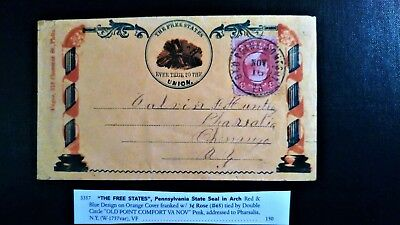 65 Civil War Patriotic - A Gem! Free States, Pennsylvania Very Fine Condition