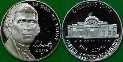 2006 US (S Mark) Monticello Nickel Graded as Proof From Original Set