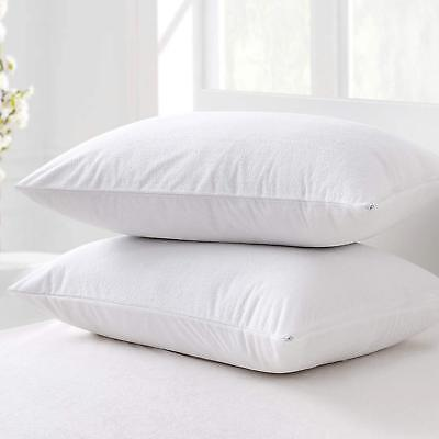 Waterproof Terry Towel Pillowcase Protector Pair 100%cotton Anti Bacterial Cover