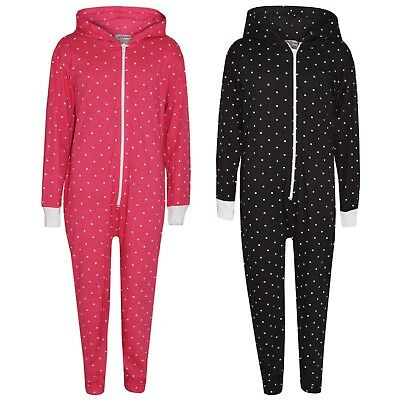 Kids Boys Girls Polka Dot Cotton A2Z Onesie One Piece Hooded Jumpsuit 2-13 Year