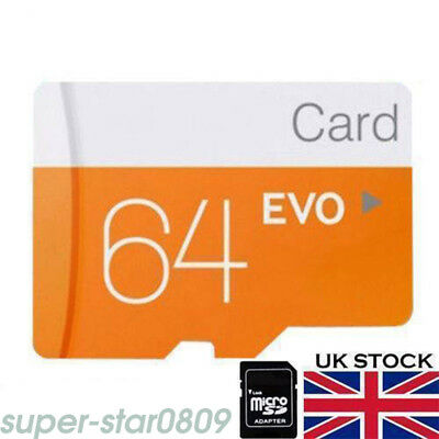 64GB Micro SD Card Class 10 TF Flash Memory SDHC 64G For Phone Tablet Camera UK