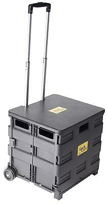 dbest products Quik Cart Two-Wheeled Collapsible Handcart W/ Black Lid Rolling
