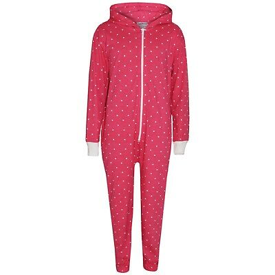 Kid Girls Pink Polka Dot Cotton A2Z Onesie One Piece Hooded Jumpsuits 2-13 Year