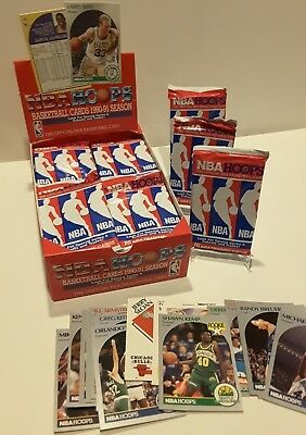 Lot Of Unopened 1990-1991 NBA Hoops-4 count-Wax Packs -Series 2-Factory Sealed