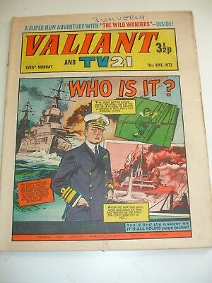VALIANT And TV 21 comic 10th June 1972..