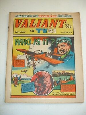 VALIANT And TV 21 comic 25th March 1972