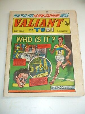 VALIANT And TV 21 comic 1st January 1972