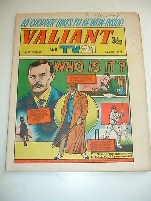 VALIANT And TV 21 comic 24th June 1972..