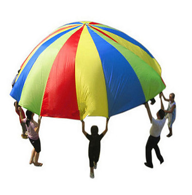 20ft / 6M Kids Play Rainbow Parachute Outdoor Game Development Exercise O
