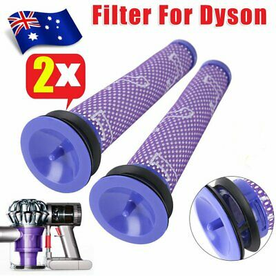 2pc For Dyson V6 V8 Animal Cordless Vacuum DC58 DC59 Washable Pre Motor Filter D